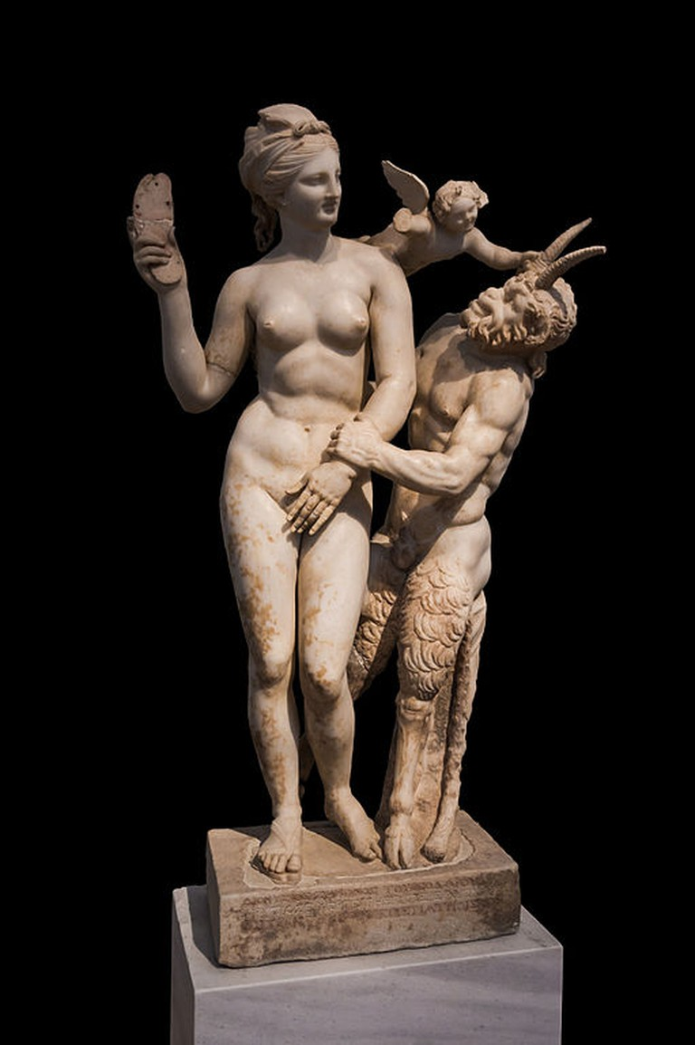 Aphrodite, Eros and Pan, ca. 100 BC   © Jebulon/WikiCommons