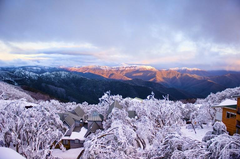 Mt Buller Village in the snow | Courtesy of Mt Buller © Andrew Railton