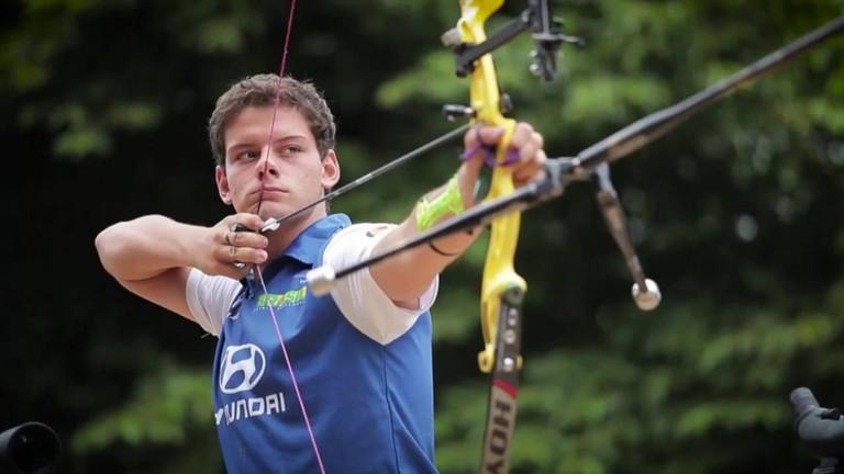 Marcus Vinicius D'Almeida in competition.