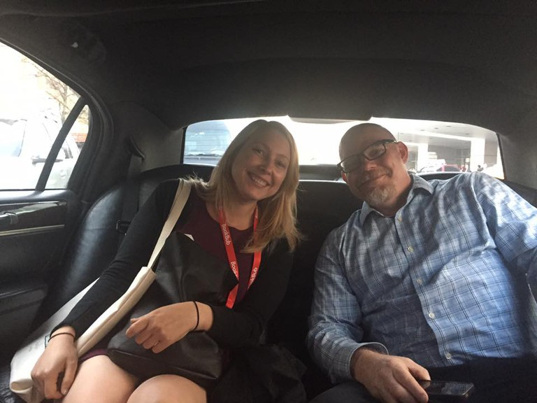 Bethany Onsgard (publicist) & Rolph Blythe (publisher) at BEA
