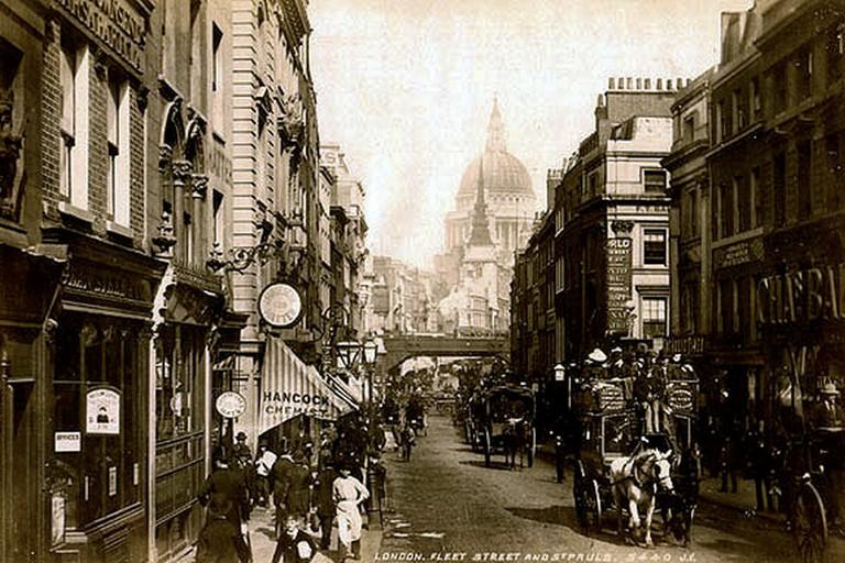 Fleet Street c. 1890 ©David Levy/Wikicommons