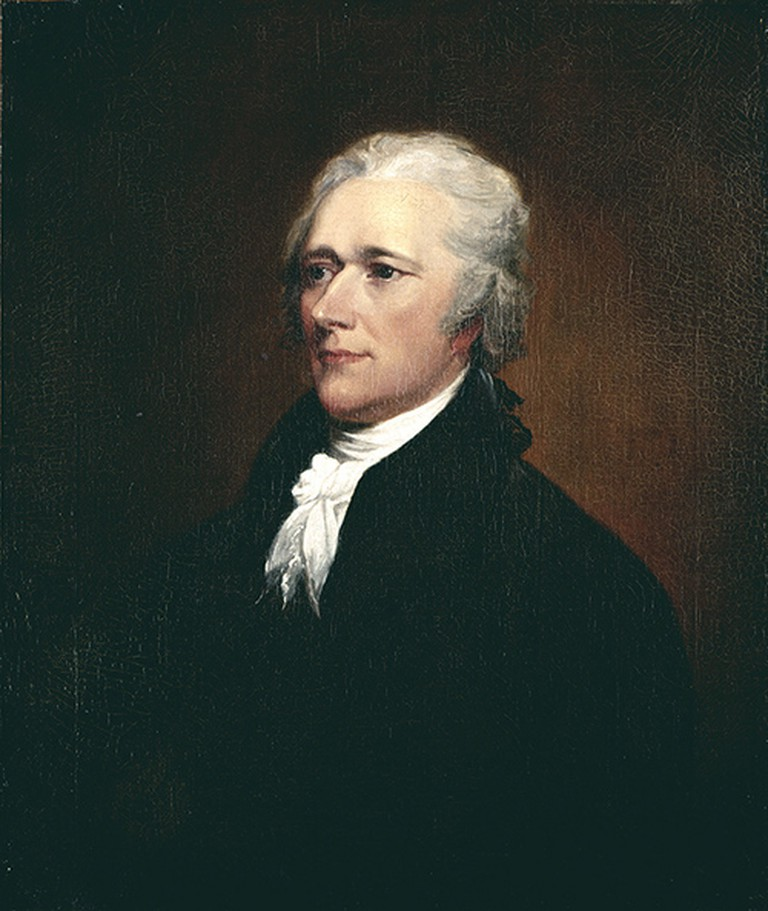 John Trumbull. Alexander Hamilton, after 1804, oil on canvas (canvas: 30 1/2 x 25 1/2 in.; frame: 39 3/4 x 34 7/8 x 5 in.), New-York Historical Society, Gift of Thomas Jefferson Bryan, 1867.305
