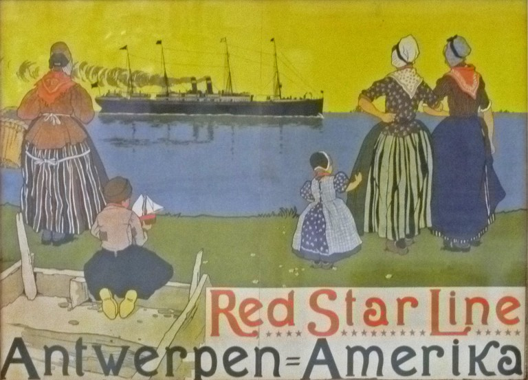 The Red Star Line carried Europeans from Antwerp all the way to Ellis Island | © Henri Cassiers/Wikimedia Commons