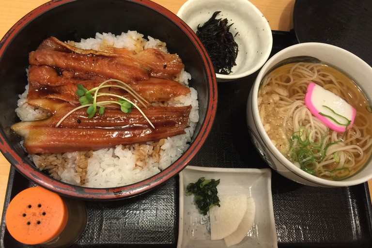 Anago Donburi and Soba set