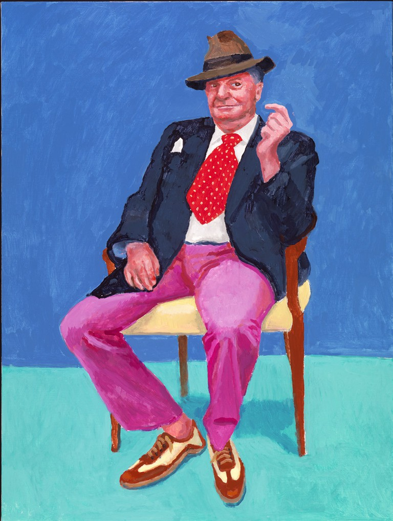 Barry Humphries by David Hockney 26th, 27th, 28th March 2015, photography by Richard Schmidt|©David Hockney/Royal Academy