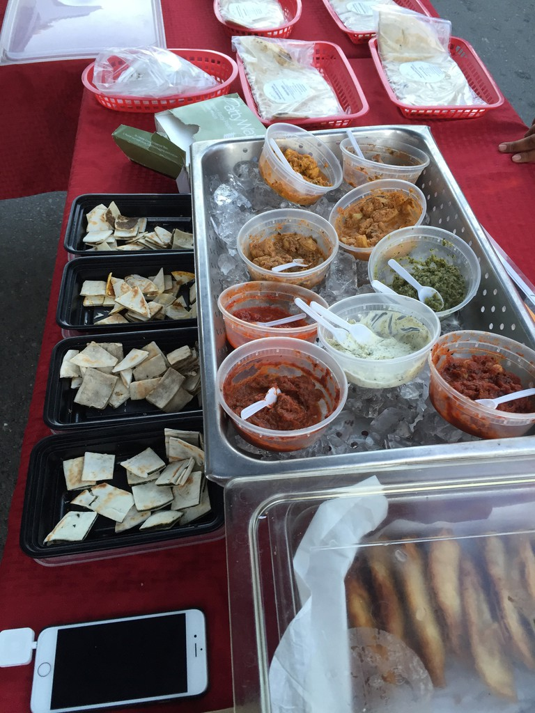 Customers can sample delicious Indian sauces at Namaskar Foods