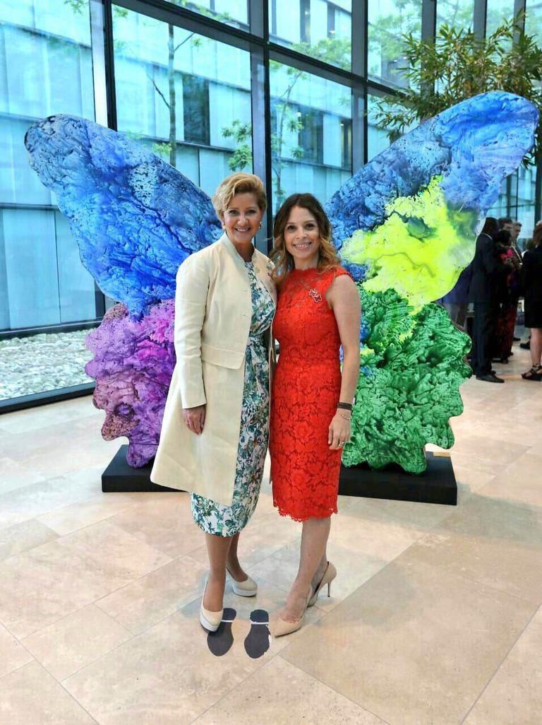 Marisabel Bazán with First Lady of Panama, Lorena Castillo de Varela, for 'Ananda.' | Courtesy of the artist