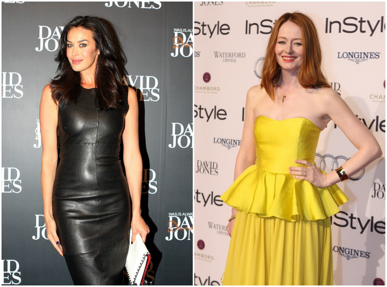 Megan Gale in Lisa Ho | © Eva Rinaldi / Flickr // Miranda Otto in Lisa Ho | © Eva Rinaldi / Flickr