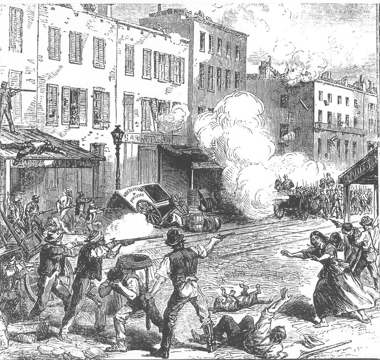 New York Draft Riots - fighting | © The Illustrated London news/WikiCommons