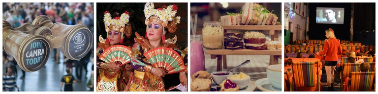 Great British Beer Festival| Courtesy of CAMRA / Traditional dancing, Bali, Indonesia|©Yves Picq/Wikicommons / Courtesy of Muriel's Kitchen / Courtesy of Backyard Cinema