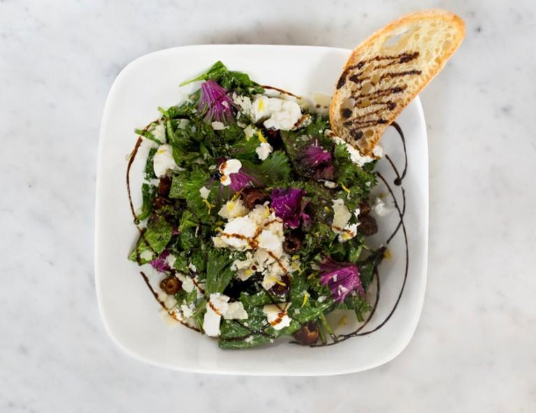 Purple kale salad. Credit: MidiCi