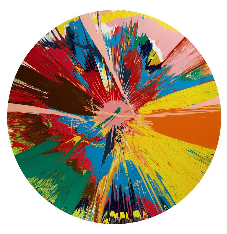 'Beautiful, Shattering, Slashing' by Damien Hirst| ©Damien Hirst/Sotheby's