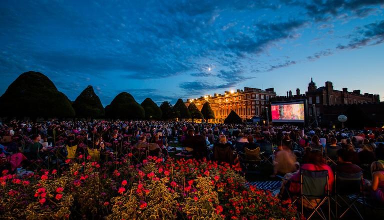 Luna Cinema screen Romeo+Juliet at Hampton Court Palace| Courtesy of Riot Communications
