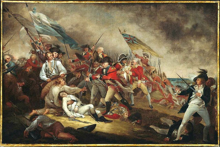 The death of general warren at the battle of bunker hill   © From the Boston Museum of Fine Arts, accession #1977.853/WikiCommons