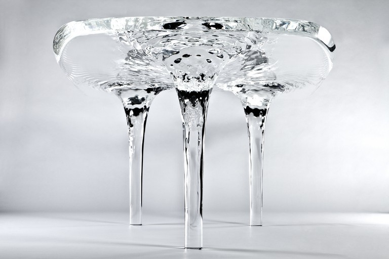 Liquid Glacial Table by Zaha Hadid for David Gil | ©Forgemind ArchiMedia/Flickr