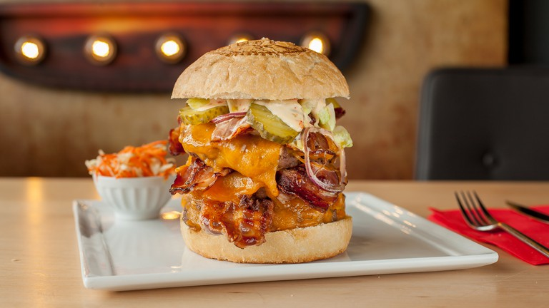 The original 3x3 at The Huggy's Bar is a meat lover's dream come true   courtesy of The Huggy's Bar