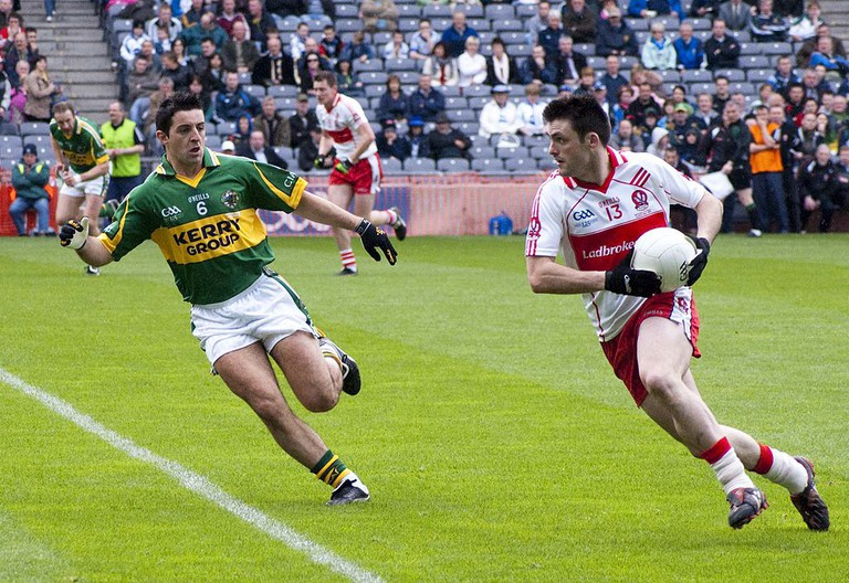 Kerry and Derry in the 2009 National League Gaelic football final | © Ciaran McGuiggan/WikiCommons