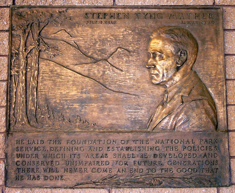 Stephen Mather plaque © Bryant Baker/Wikipedia