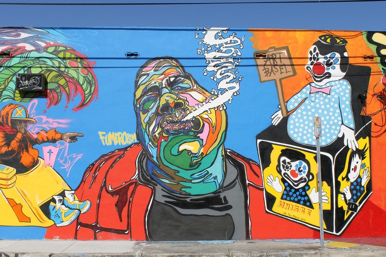 One of Fumero's murals that he painted for Art Basel 2014 | Phillip Pessar/Flickr