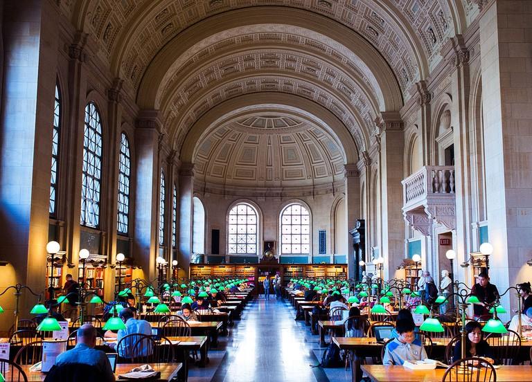 Reading Room at the BPL| ©Brian Johnson