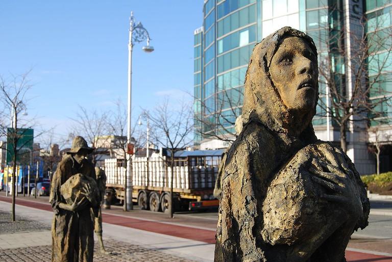Famine memorial, Dublin | © Chmee2/WikiCommons