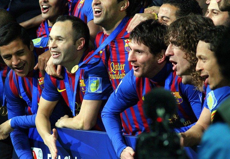FC Barcelona celebrating their FIFA World Cup victory in 2011 | © Christopher Johnson