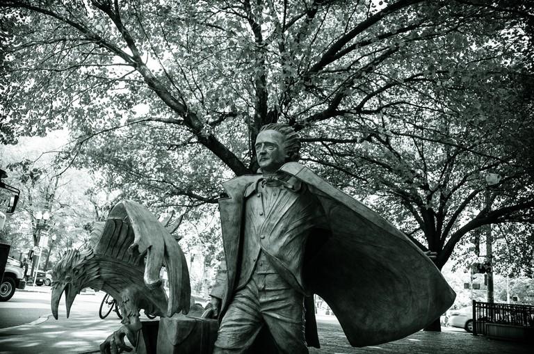 Sculpture of Edgar Allan Poe| ©MK Feeney/Flickr