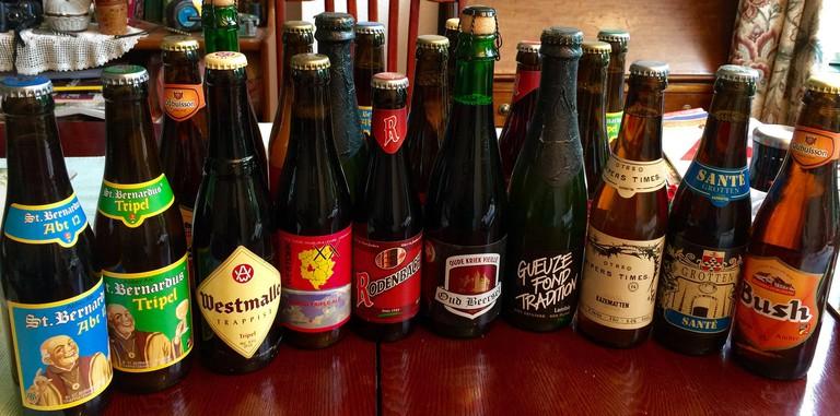 A small sampling of Belgium's 1,500 original beers | © Smabs Sputzer