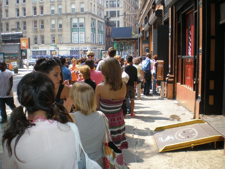 Line to enter a venue at FringeNYC
