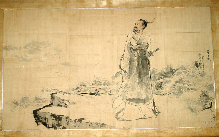 Watercolor of Qu Yuan | David Schroeter/CC BY-ND 2.0/Flickr