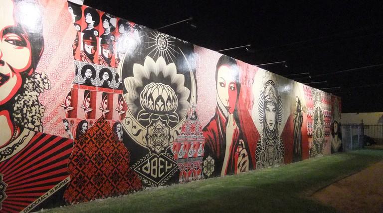 Shepard Fairey's Mural at Wynwood Walls | Juan Andres Martinez/Flickr