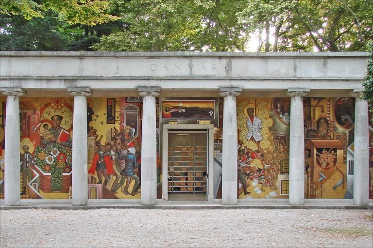 Mural by Stelios Faitakis At the Danish Pavillion, Venice Biennale | © Jean-Pierre Dalbéra/Flickr