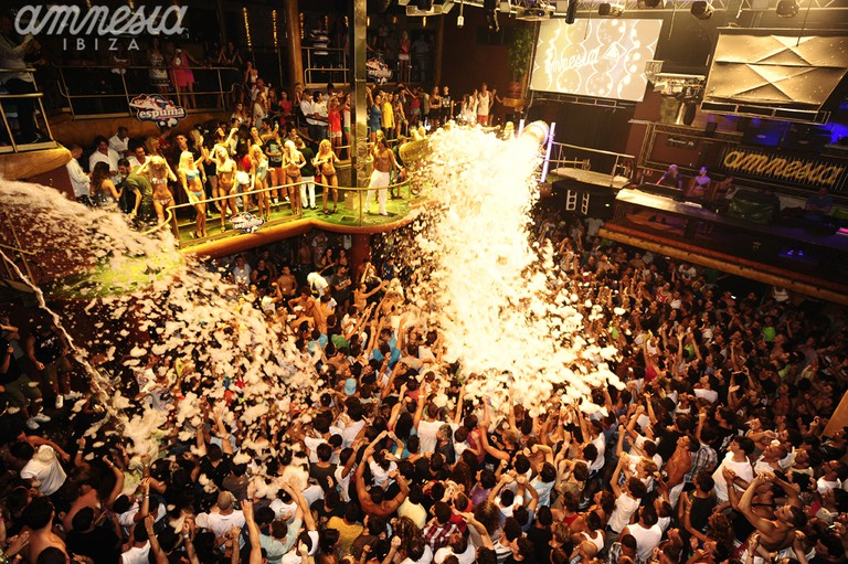 A foam party at Amnesia | © Amnesia Ibiza