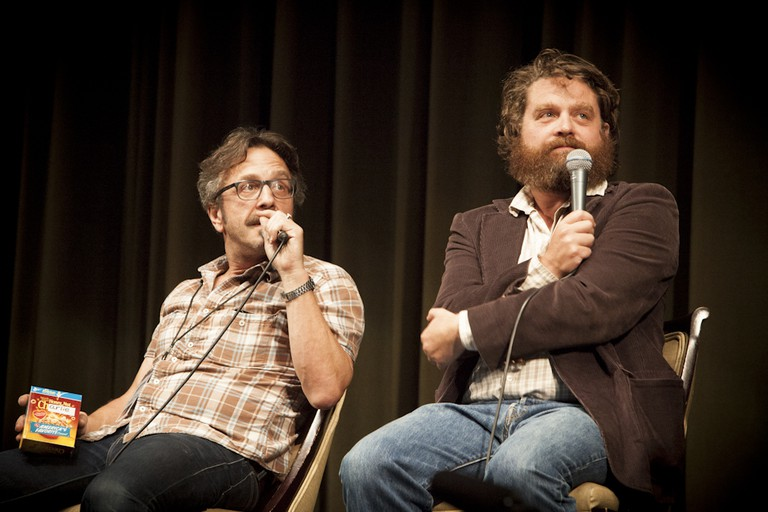 Marc Maron & Zach Galifianakis // Doug Loves Movies @ LA Pod Fest, 2012 © CleftClips