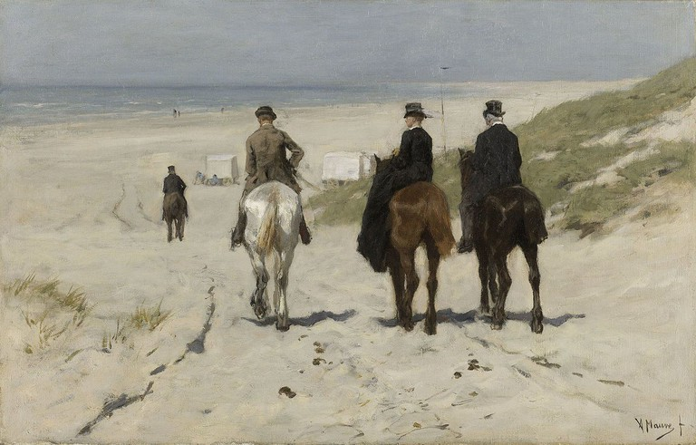 Anton Mauve: Morning Ride on The Beach, 1876 | © The Rijksmuseum / Wikicommons