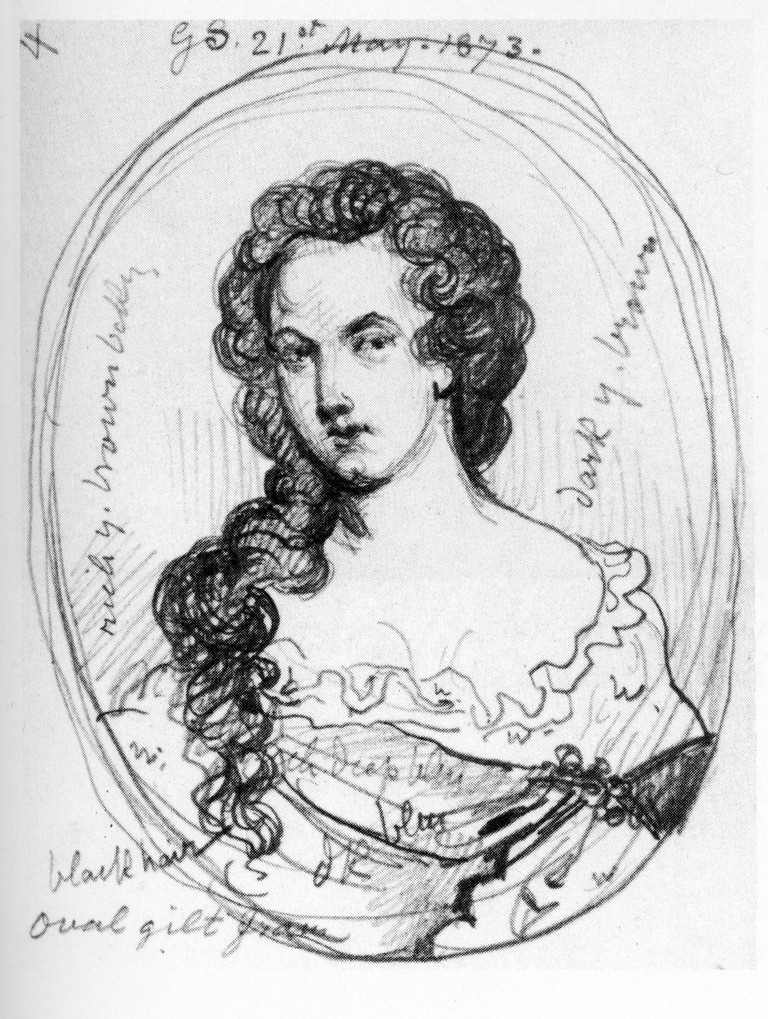 A sketch of Aphra Behn by George Scharf  Wikicommons