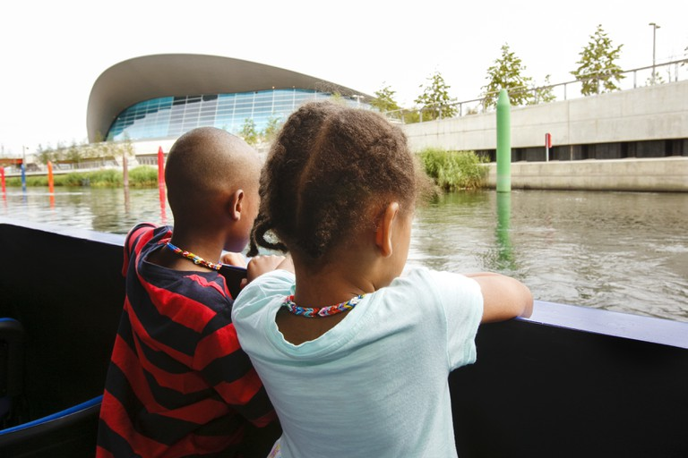 Boat tour in the Olympic Park|Courtesy of the London Legacy Development Corporation