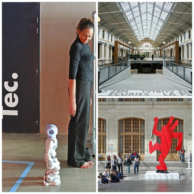 Futur en Seine 2013 at the Cent Quatre © Jean-Pierre Dalbéra/Flickr │ The Cent Quatre © Jean-Christophe BENOIST/ WikiCommons │ Keith Haring at the Cent Quatre 2 © Jean-Pierre Dalbéra/Flickr