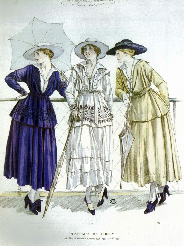 Chanel jersey casual wear 1917 © Unknown/WikiCommons