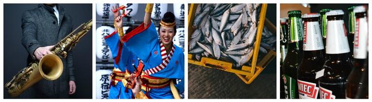okyo Jazz | © Pexels / Yosakoi | ©KumarNav/Flickr / Sanma Festival | © Unsplash / Beer garden | © Pexels