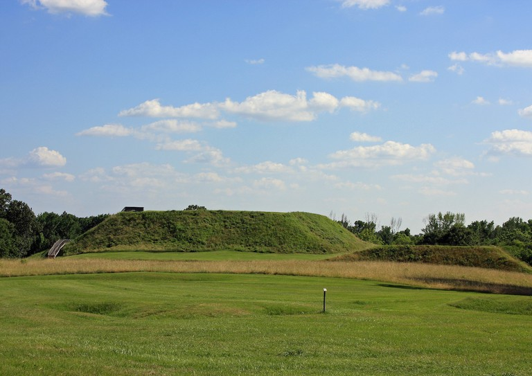 Great Temple Mound   Courtesy of Ocmulgee National Monument/National Park Service