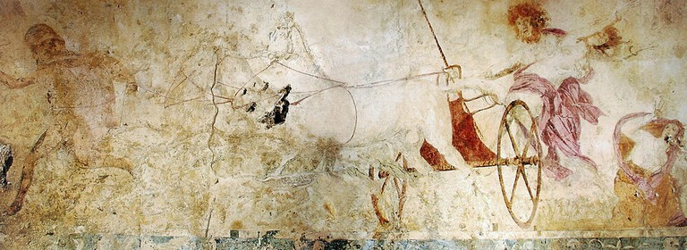 The abduction of Persephone, fresco found in the tomb of Vergina | © Yann Forget/WikiCommons