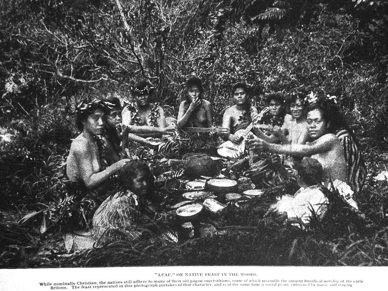 Hawaii Luau from 1899 | © Public Domain/Wikicommons