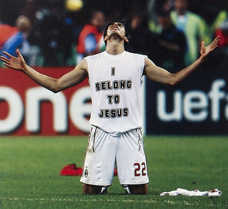 Kaka at the final whistle of the 2002 World Cup final.