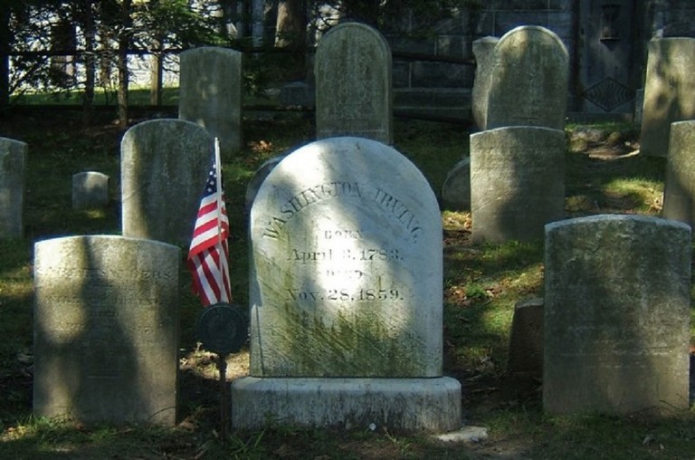 Washington Irving Rests in Sleepy Hollow /
