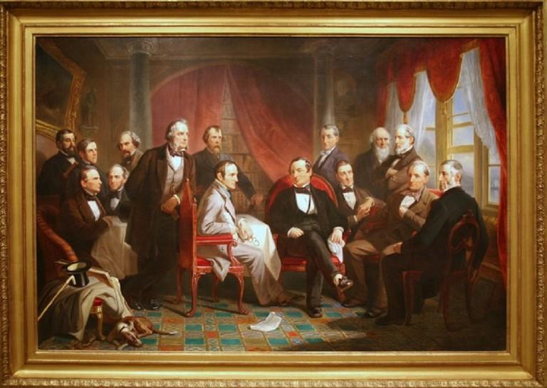 Washington Irving and his Literary Friends at Sunnyside