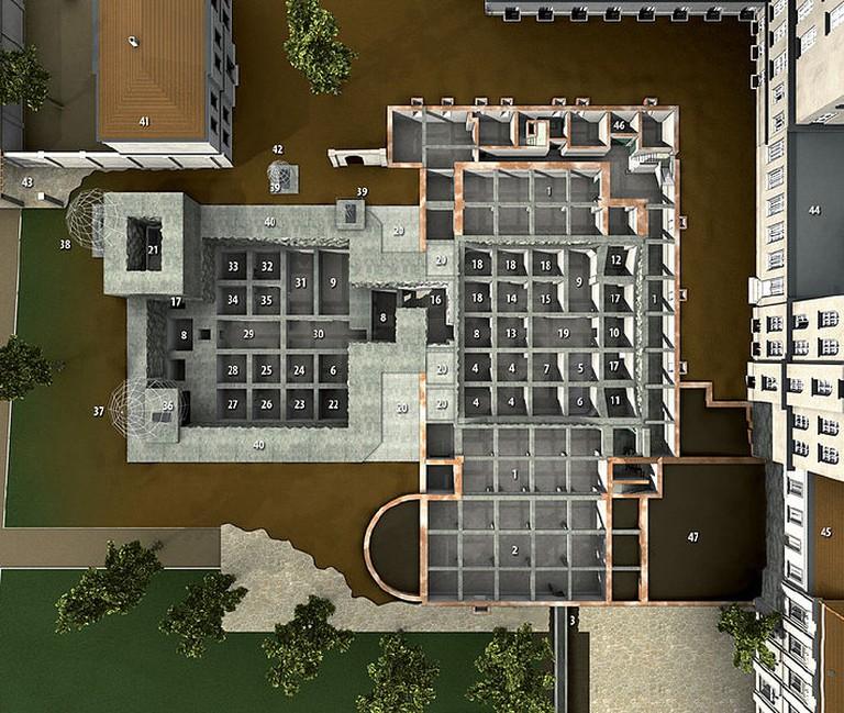 3D map of Hitler's bunker | © Christoph Neubauer/WikiCommons