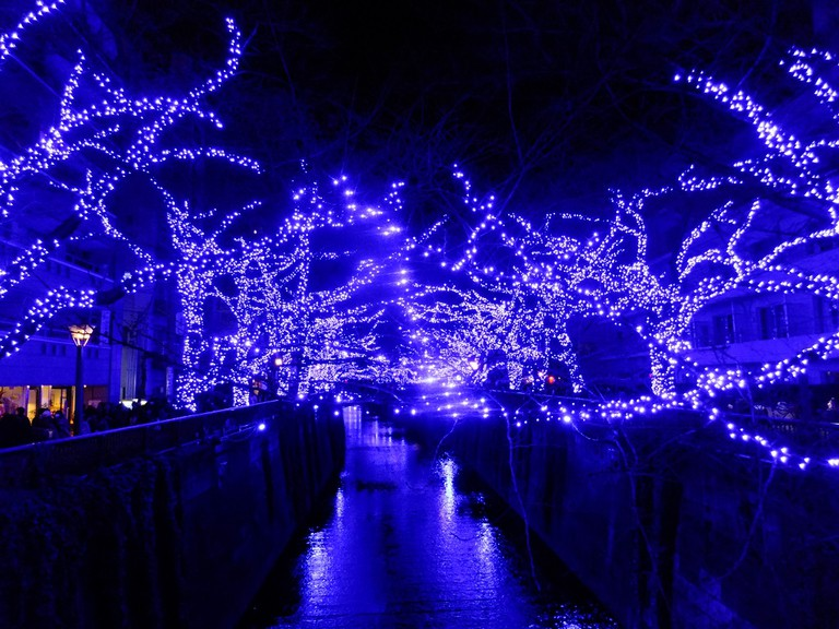 The Meguro River at night | © 掬茶/WikiCommons