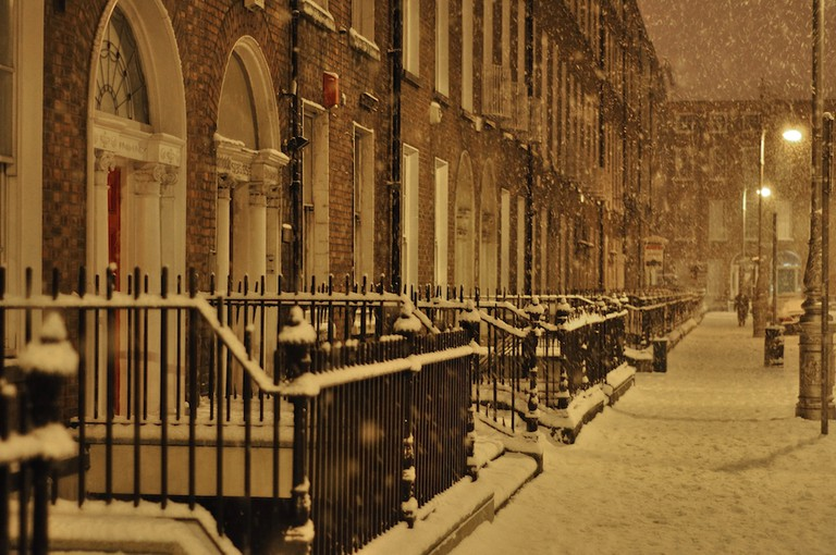 The south side of Mountjoy Square, in the snow of January 2010 | ©Bryan Butler/WikiCommons