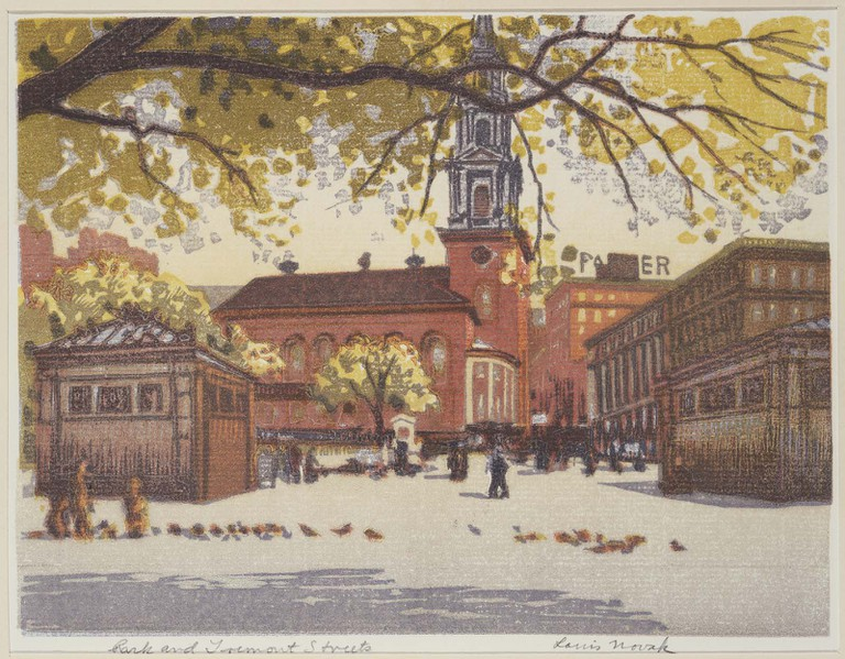 Park and Tremont Streets by Louis Novak